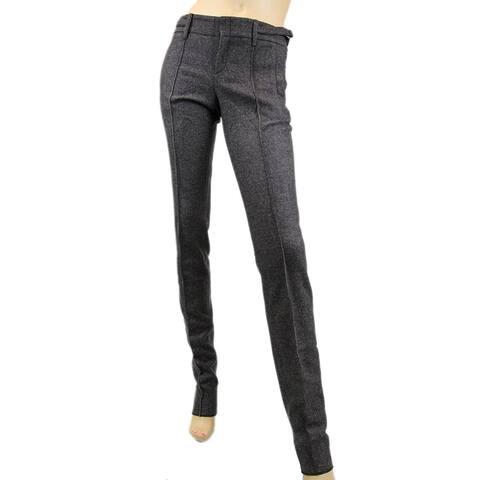 Gucci Women's Brown Wool Elastane with Buckle Belt Strap Dress Pant 186422