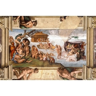 Easy Art Prints Michelangelo's 'The Deluge, Sistine Chapel' Premium Canvas Art