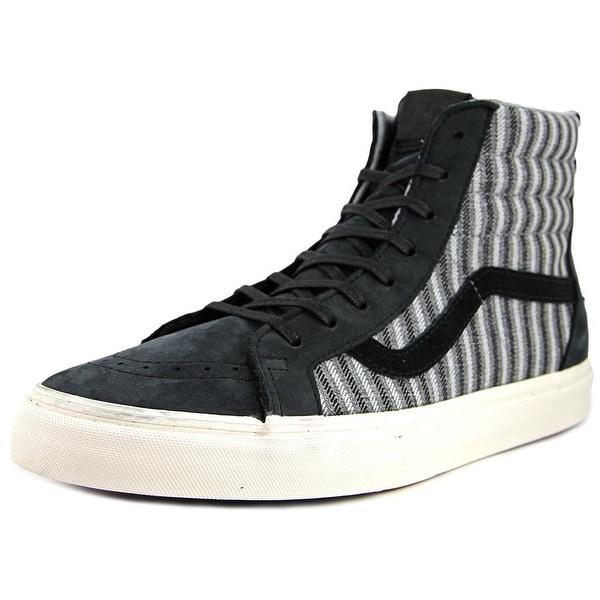 Vans Sk8-Hi Zip Men Round Toe Leather Black Sneakers