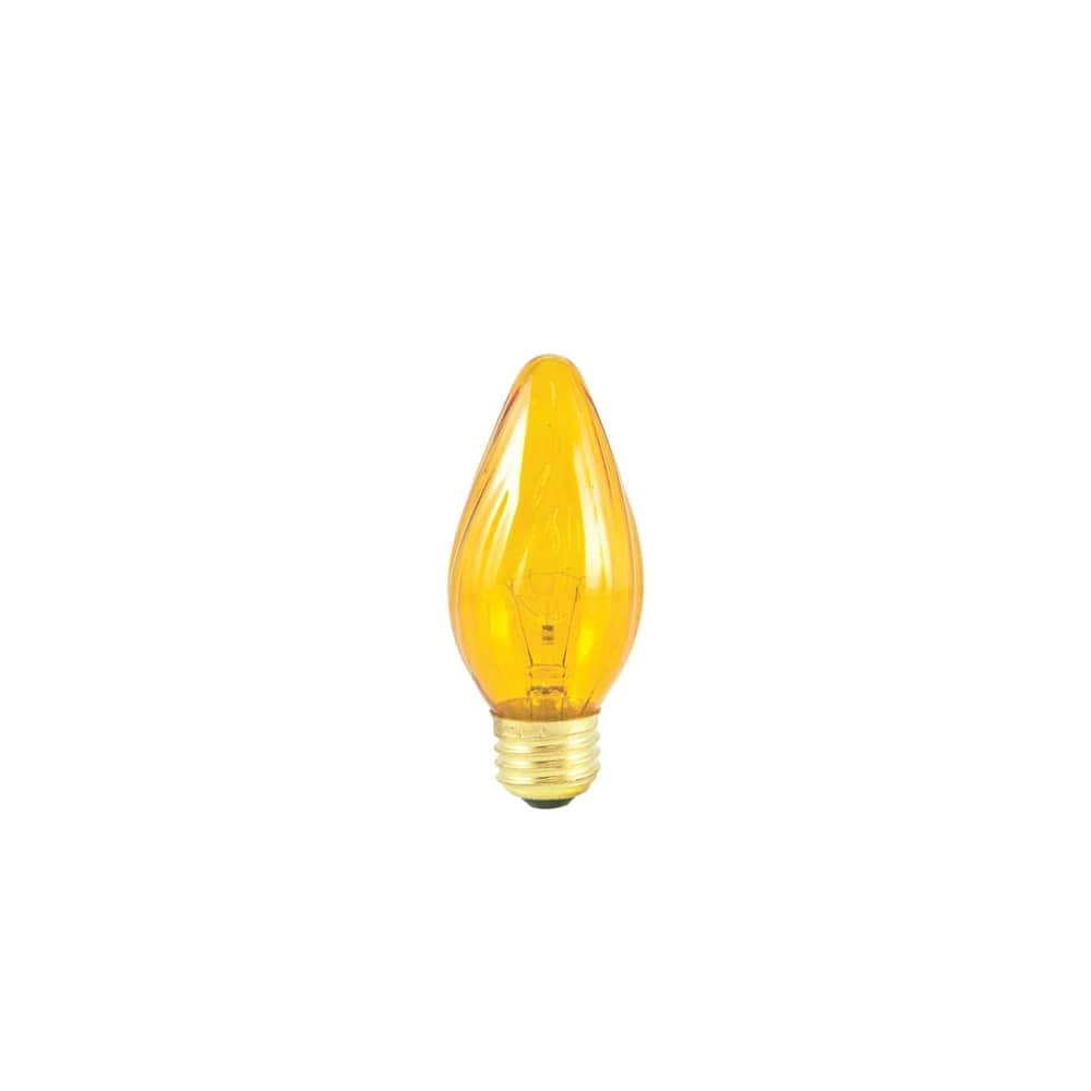 Pack of 4 Medium GE 25 watts F15 Decorative Incandescent Bulb E26 Amber