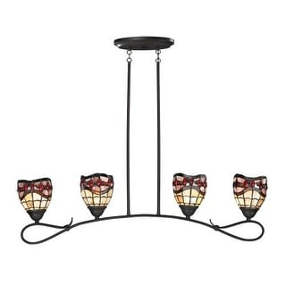 Dale Tiffany TH12427 Fall River 4 Light Linear Chandelier - Gold