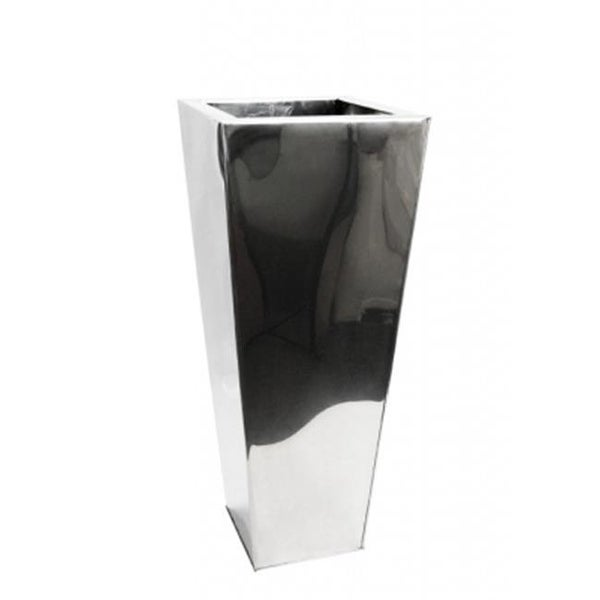 Shop L Tapered Stainless Steel Mirror Vase 36 X 14 X 14 In Free