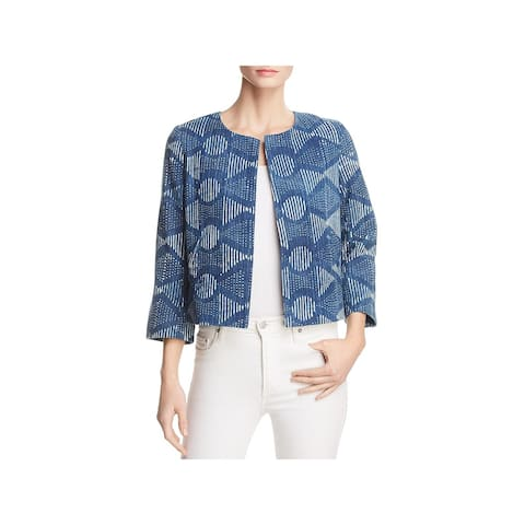 Eileen Fisher Womens Collarless Blazer Casual Open Front - XS