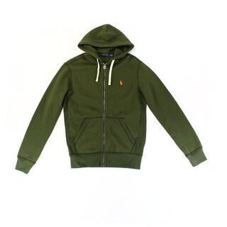 Polo Ralph Lauren NEW Green Mens Size Large L Full Zip Hooded Sweater