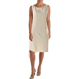Eileen Fisher Womens Silk Sleeveless Casual Dress