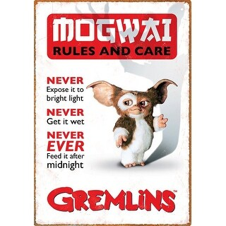 "Gremlins Rules 8.5""x11"" Tin Sign - Multi"