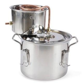 Arksen 2 Gallon Stainless Steel Water Alcohol Distiller Copper Tube Home Brew Kit Distiller 8L Wine Making