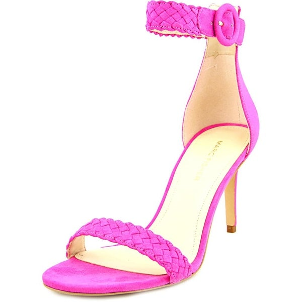 Marc Fisher Braelin 2 Women Open Toe Canvas Pink Sandals