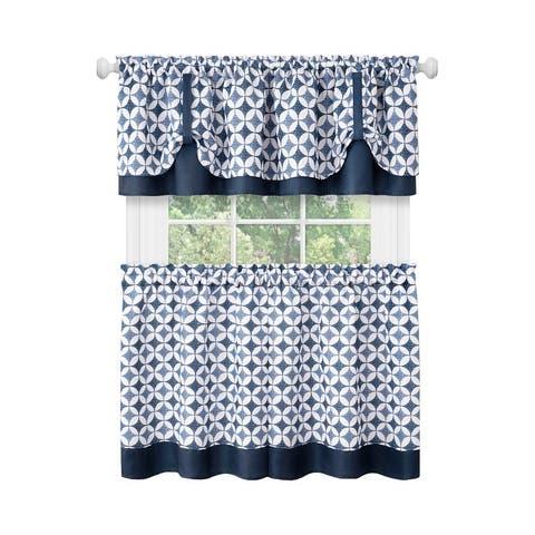 Callie Window Curtain Tier Pair and Valance Set