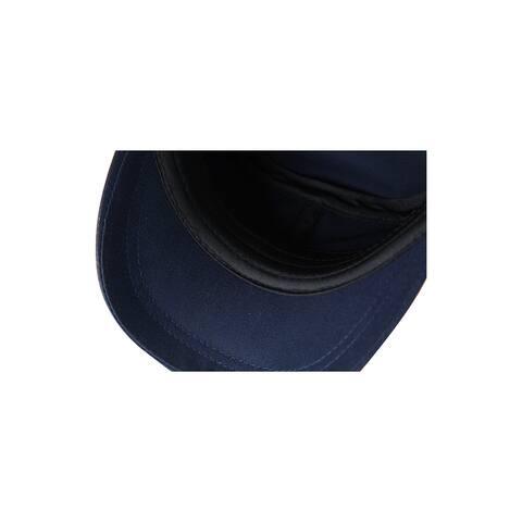 Unisex Cotton Flat Top Peaked Baseball Vintage Adjustable Solid Cadet Cap Navy