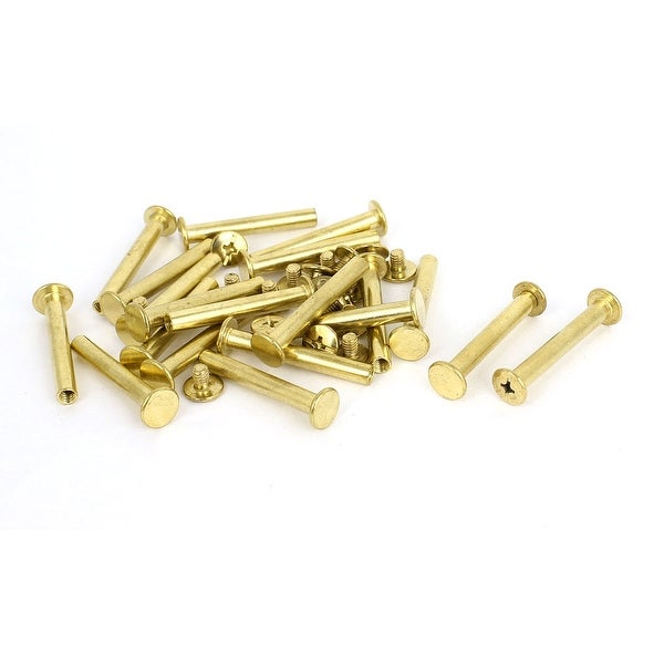 Shop Brass Plated 5x35mm Binding Chicago Screw Post 20pcs For