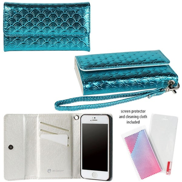 JAVOedge Wallet Case with Wristlet for Apple iPhone 5 - E