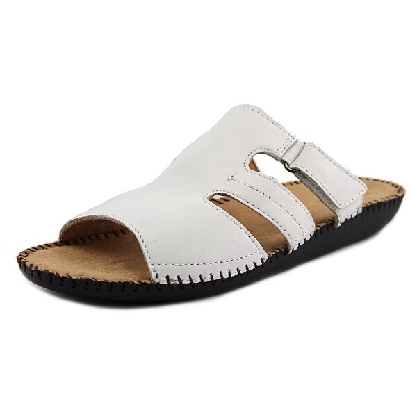 Naturalizer Serene Open Toe Leather Slides Sandal