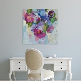 Easy Art Prints Silvia Vassileva's 'Pink and Blue III' Premium Canvas Art