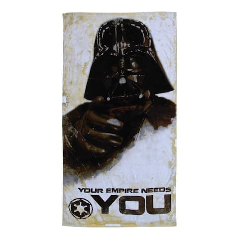 "Star Wars 30""x60"" Darth Vader ""Your Empire Needs You"" Beach Towel - Multi"