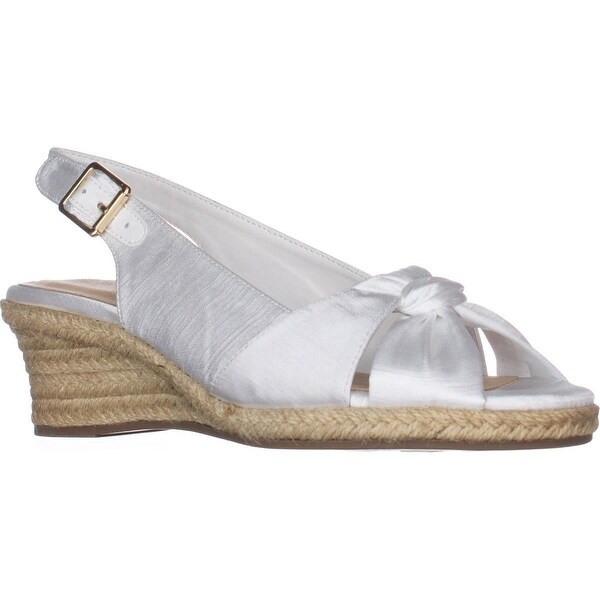 e52e64b321f Shop Bella Vita Seraphina II Espadrille Wedge Sandals, White - Free ...