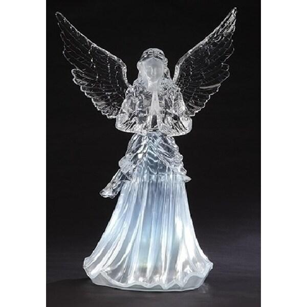 """24"""" Icy Crystal LED Praying Angel Christmas Figure"""