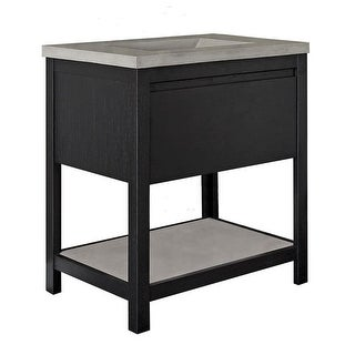 """Native Trails VNO30  Solace 30"""" Single Free Standing Wood Vanity Cabinet Only - Sunrise Oak"""