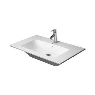 "Duravit 2336830030 ME By Starck 32-5/8"" Ceramic Bathroom Sink for Vanity, Wall Mounted or Pedestal Installations with Widespread"