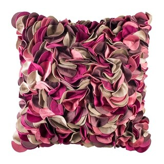 100% Handmade Imported Impossibly Pretty Pillow Cover, Shades of Pink, Purple, and Tan