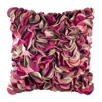 100% Handmade Imported Impossibly Pretty Throw Pillow Cover, Shades of Pink, Purple, and Tan