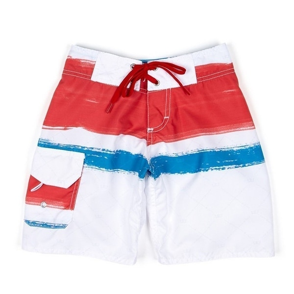 0875f9e049 Shop Azul Boys Red White Blue Paint Board Adjustable Waist Swim Trunks -  Free Shipping On Orders Over $45 - Overstock - 19294582