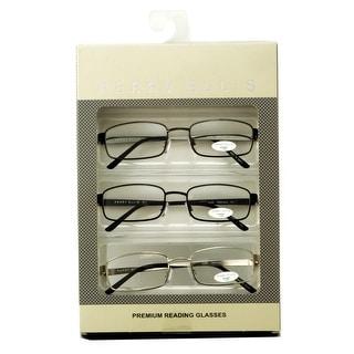 perry ellis mens 3 multi pack metal reading glasses 15
