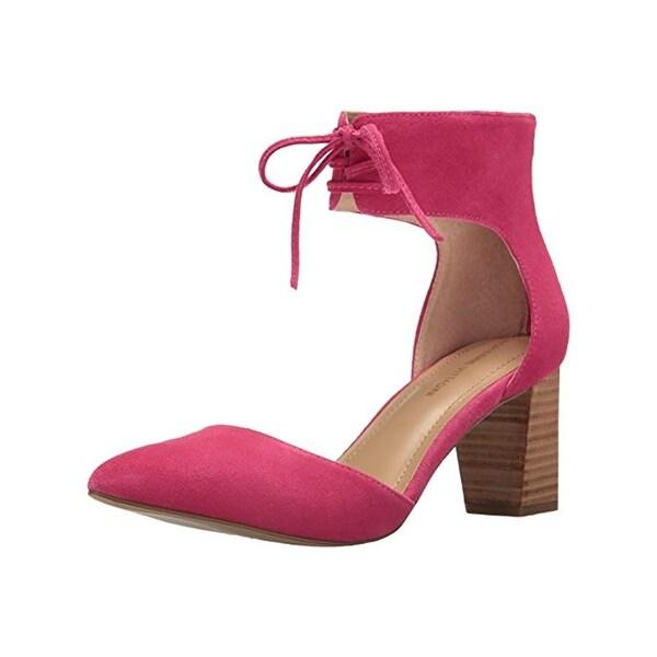 Adrienne Vittadini Womens Dress Pumps Ankle Strap Block Heel
