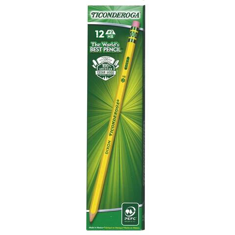 (6 Dz) Dixon Ticonderoga No 2 Pencils Presharpened 1 Dz