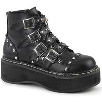 Demonia Women's Emily 315 Ankle Boot Black Vegan Leather
