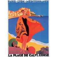 ''Mediterranee'' by Roger Broders Vintage Advertising Art Print (33.5 x 25 in.)