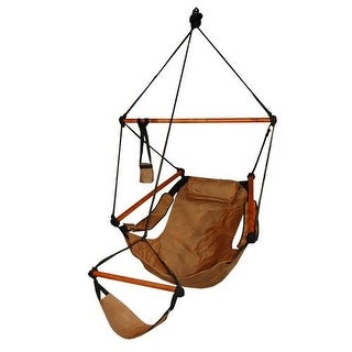 Hammaka Strong & Comfort Hanging Chair Wood Dowels for Indoor/Outdoor - Natural Tan