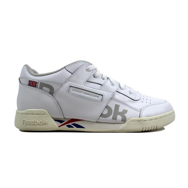 633337ca3d2 Shop Reebok Men s Workout Plus MU White Dark Royal-Red-GreyDV4632 ...