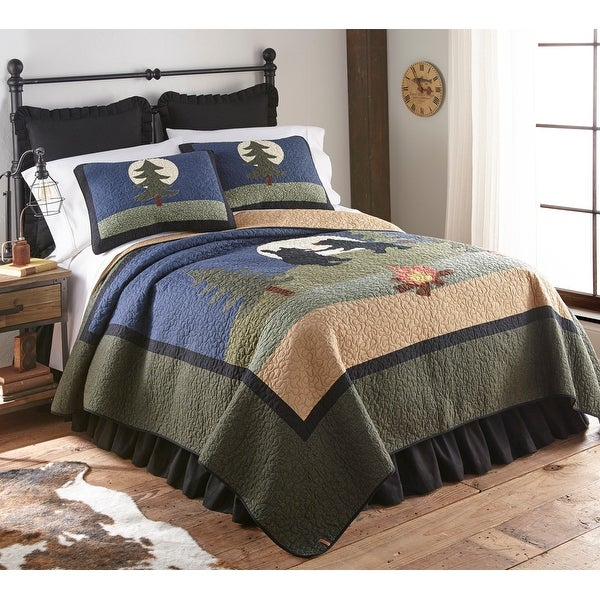 Donna Sharp Bear Camp Quilt Set. Opens flyout.