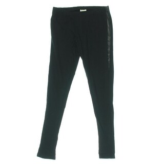 Zara Girls Faux Leather Trim Stretch Leggings - 11/12