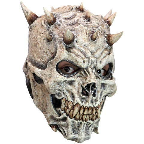 Adult Spikes Skeleton Costume Mask - Standard - One Size