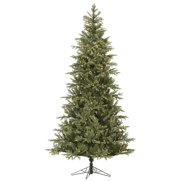 6.5' Pre-Lit Slim Elk Frasier Artificial Christmas Tree - Warm White LED Lights - green