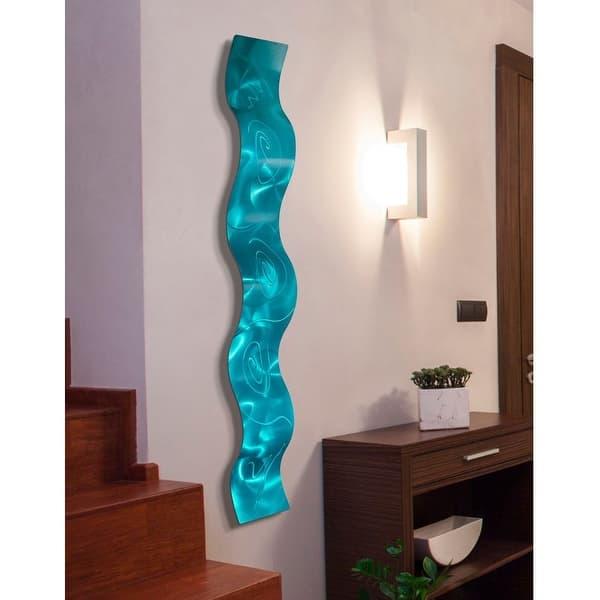 Statements2000 3d Metal Wall Art Accent Sculpture Modern Abstract Decor By Jon Allen Wave 46 5 X 6 Overstock 27088896