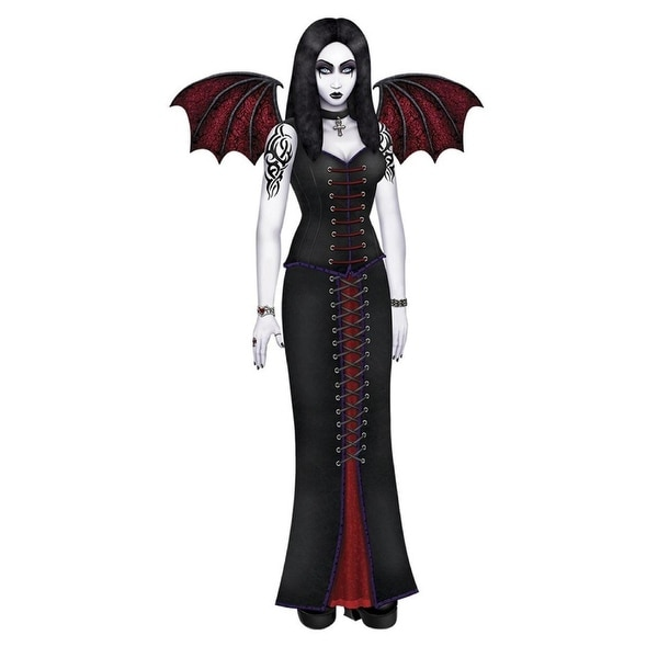Club Pack of 12 Jointed Gothic Vampire Beauty Halloween Wall Decoration 72