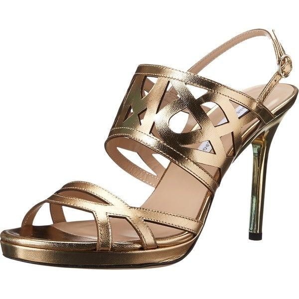Diane von Furstenberg NEW Gold 8M Slingbacks Dakota Sandal Heel