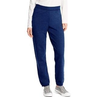 Hanes ComfortSoft ; EcoSmart® Women's Cinch Leg Sweatpants - Size - M - Color - Navy Heather