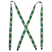 Buckle Down St. Patrick's Day Beer Mug Novelty Suspenders