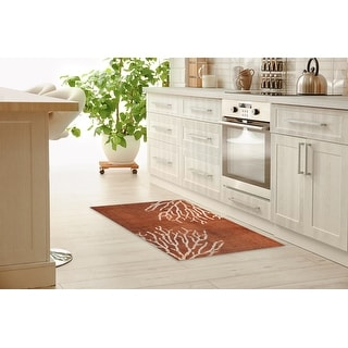 Link to SULTANA BURNT ORANGE DESTRESSED Kitchen Mat by Kavka Designs Similar Items in Rugs