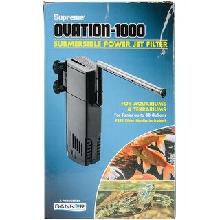 For Tanks Up To 80 Gallons - Supreme Ovation 1000 Internal Filter
