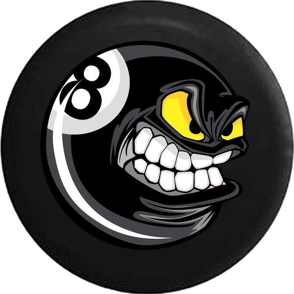 Spare Tire Cover Cartoon Angry Pool Ball Billiards 8 Ball. Opens flyout.