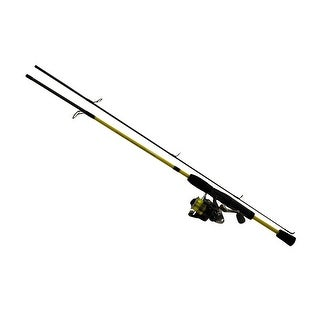 """Lew's Fishing Mr. Crappie Slab Shaker 2 Piece Rod And Reel Combo, 5' 2""""/Light/4.8 Oz./120 Yd./4 Lb./5.2:1"""