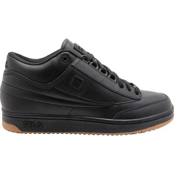 9ea8f5d31ee3 Shop Fila Men s T-1 Mid Zipper Tennis Shoe Black Black Gum - Free ...