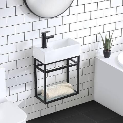 "Swiss Madison SM-BV551 Pierre 19.5"" Single, Metal Frame, Open Shelf, Bathroom Vanity"