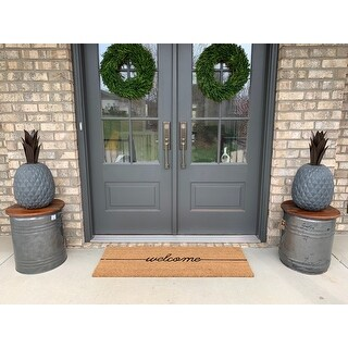 18 x 48 Welcome Large Coir Doormat - N/A