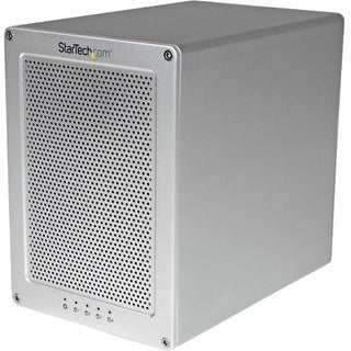 """StarTech S354SMTB2R StarTech.com 4-Bay Thunderbolt 2 Hard Drive Enclosure with RAID - Quad-Bay 3.5"" HDD RAID Enclosure -"